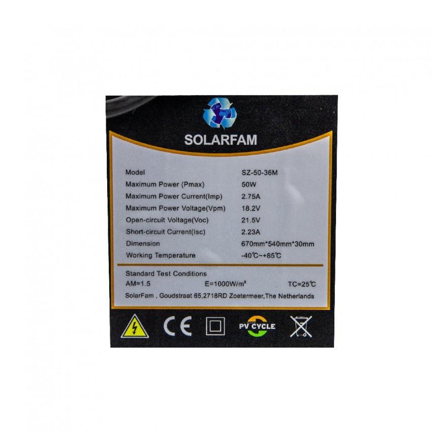 Соларен панел, Монокристален 50w